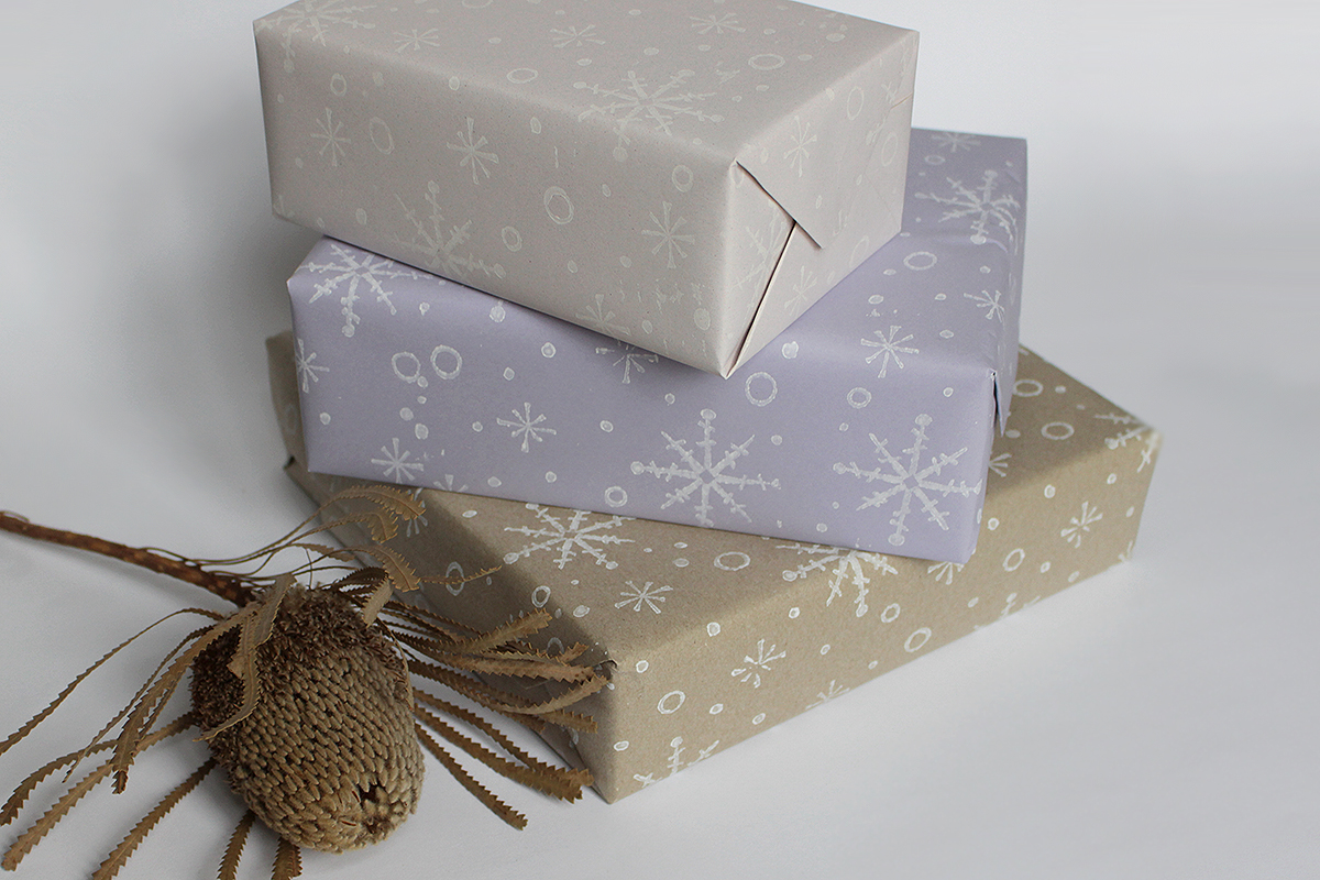 Print Your Own Wrapping Paper With Patterned Rollers