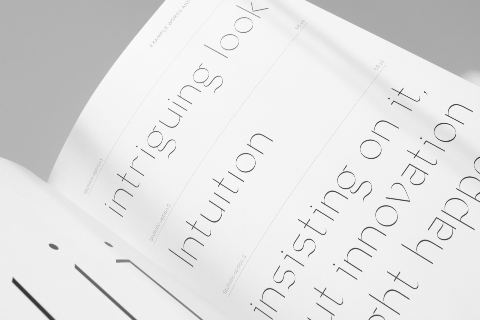 Graceful Vapour Typeface Inspired by Calligraphy by Anna Takács