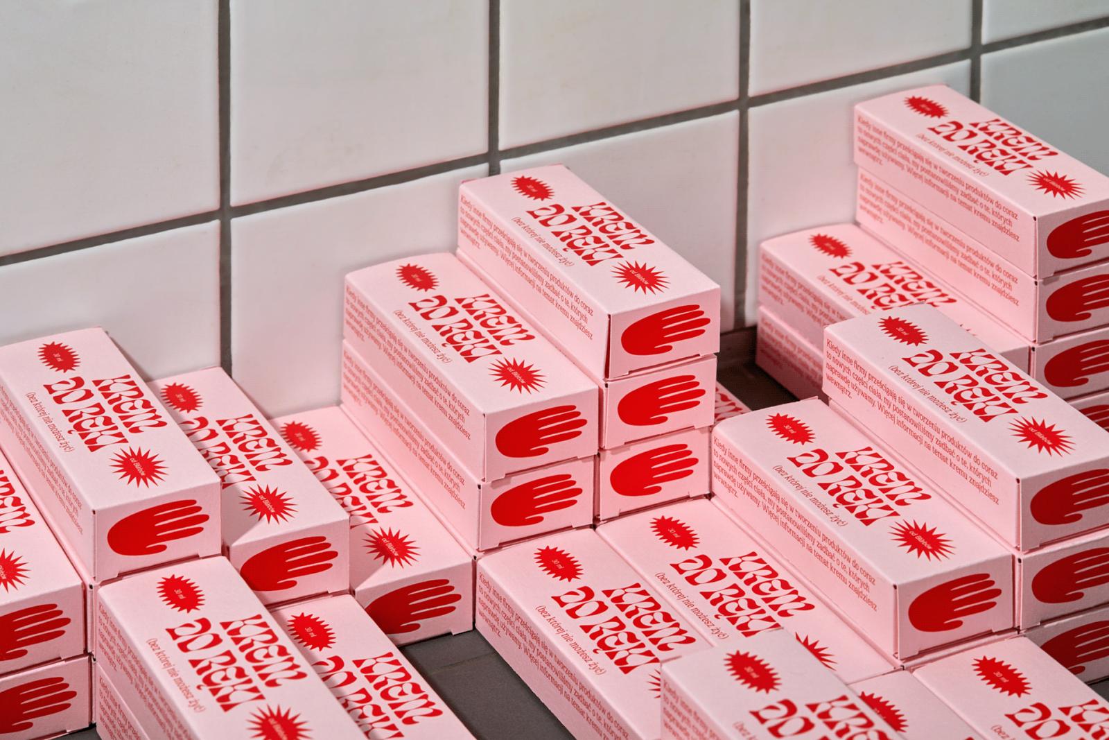 Blürb Studio's Krem Do Reki hand cream packaging