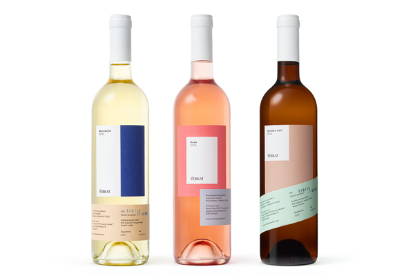 Wine Labels Inspired by Modernist Forms and Shapes by Metaklinika