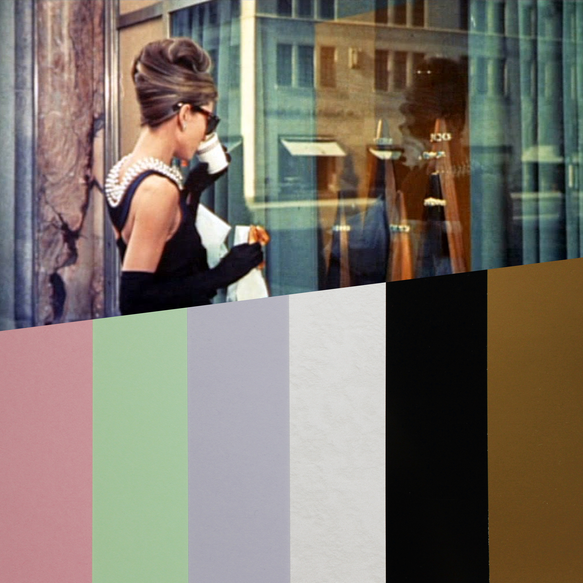 design papers collections inspired by an iconic movie scene - breakfast at tiffanys