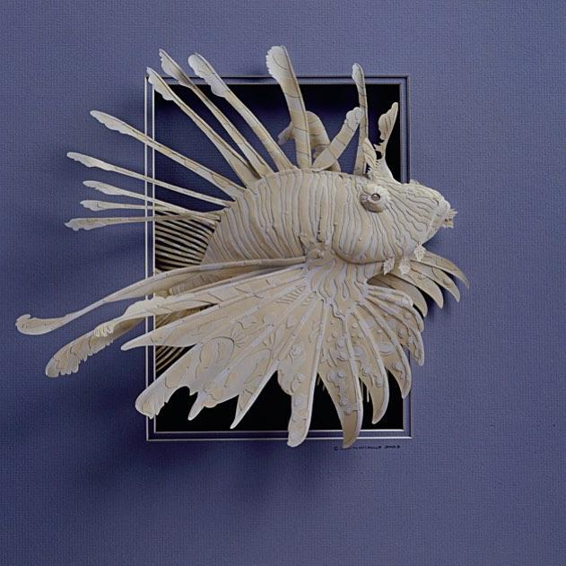 Calvin Nichols Turns Fine Papers Into Low Relief Sculptures