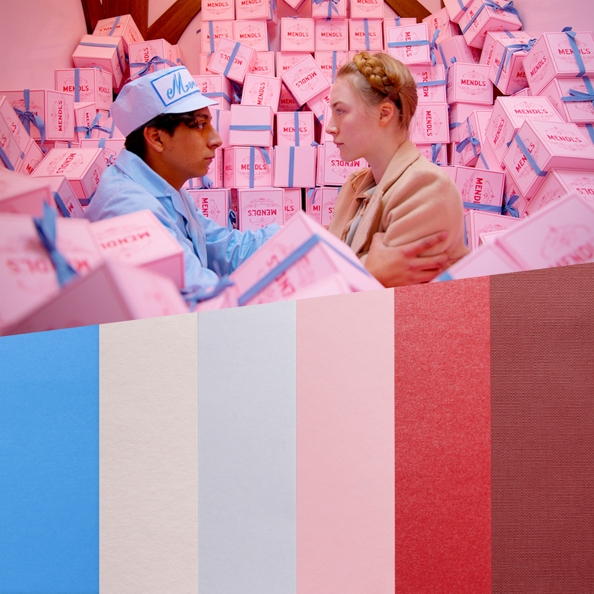 design papers collections inspired by an iconic movie scene - the grand budapest hotel
