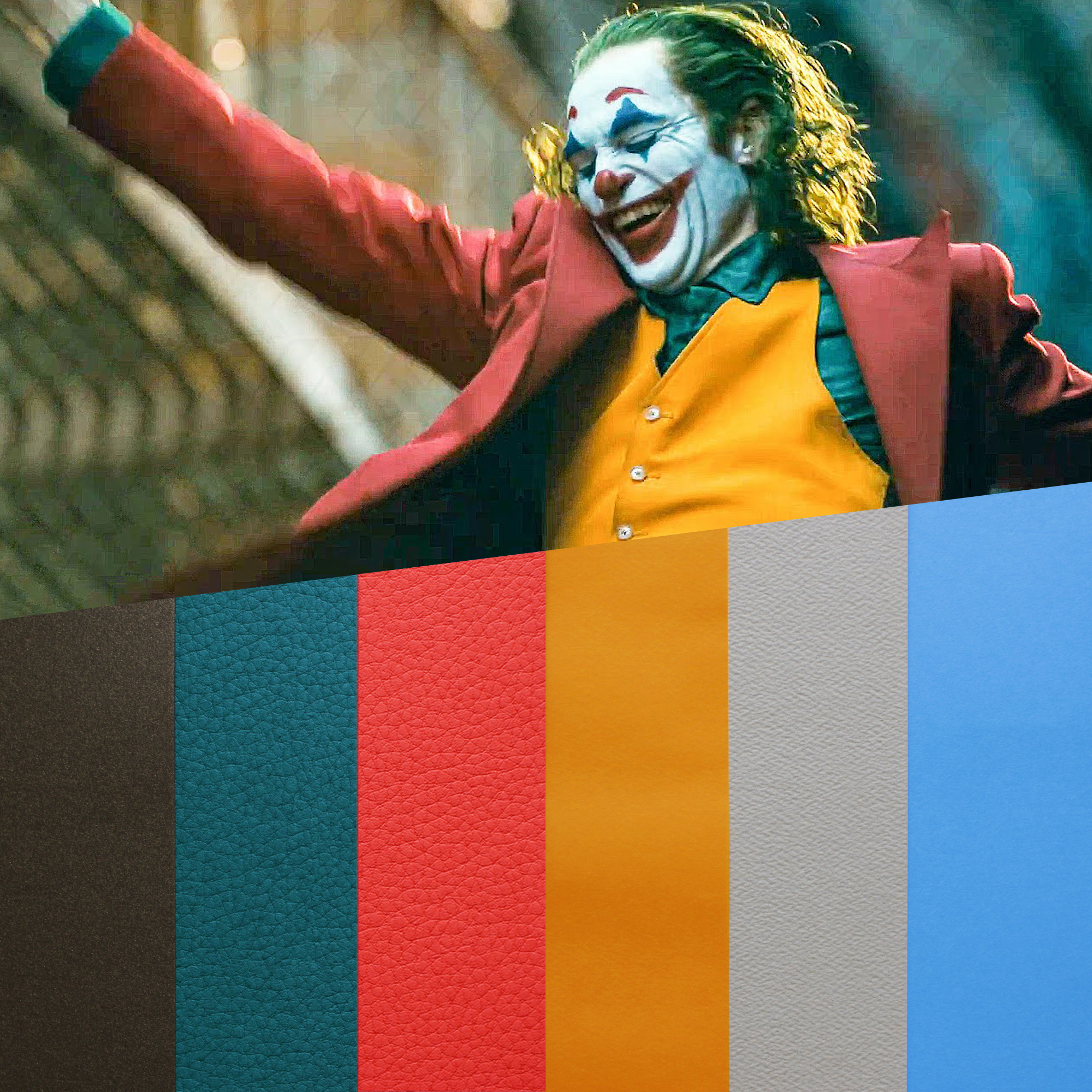 design papers collections inspired by an iconic movie scene- joker