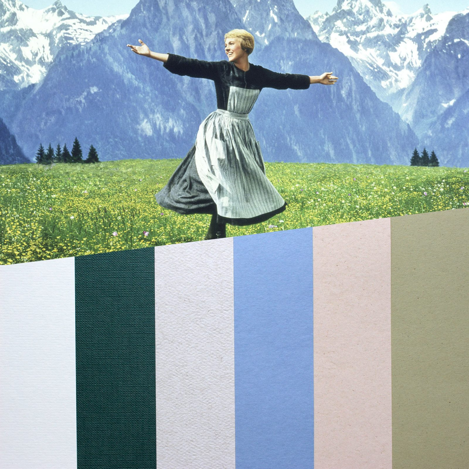 design papers collections inspired by an iconic movie scene - sound of music
