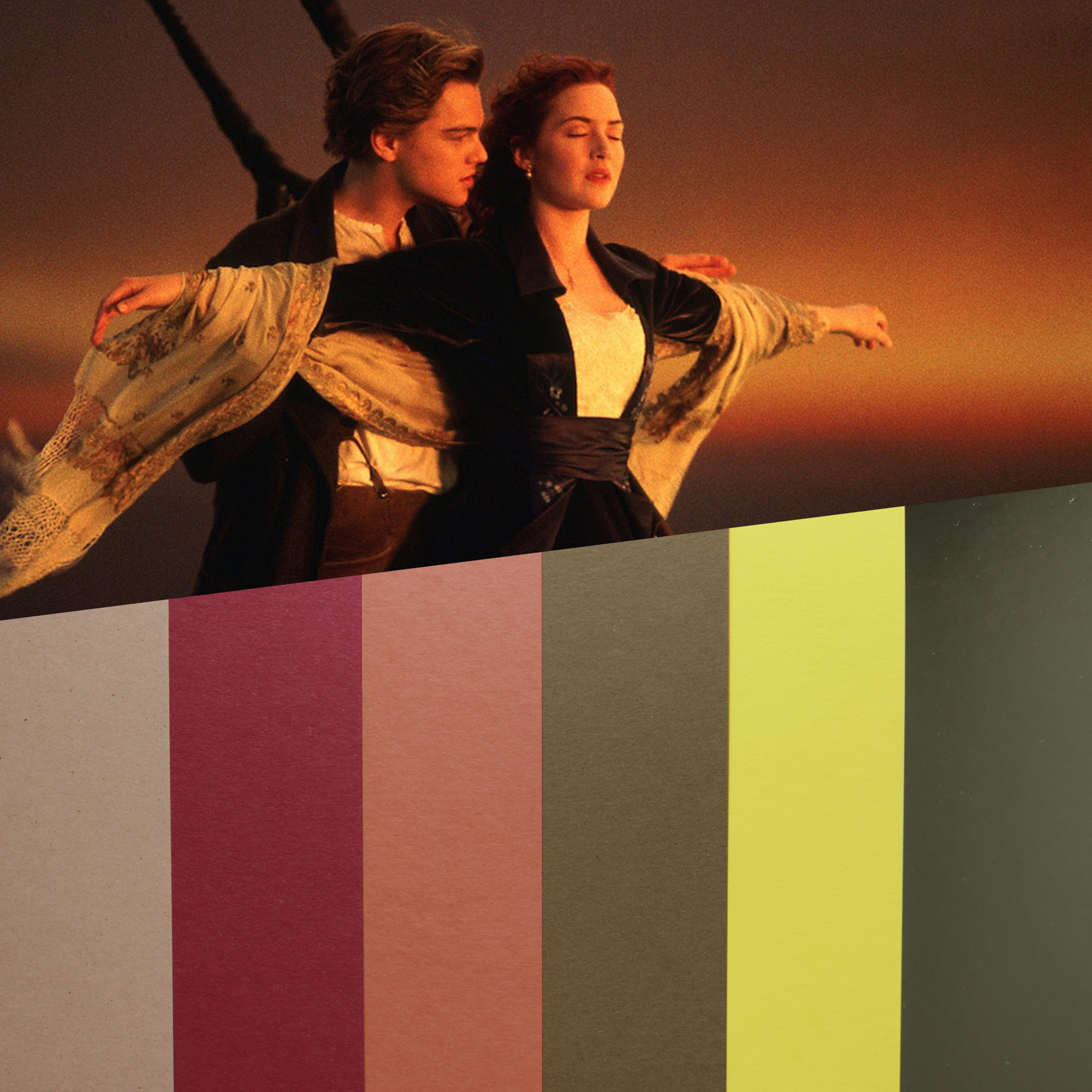 design papers collections inspired by an iconic movie scene - titanic