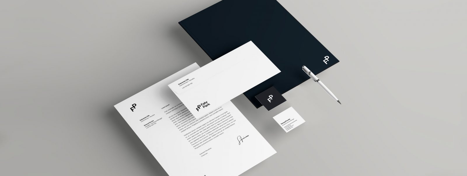 Minimally Mobile Fahr Park Visual Identity by Mendelssohn