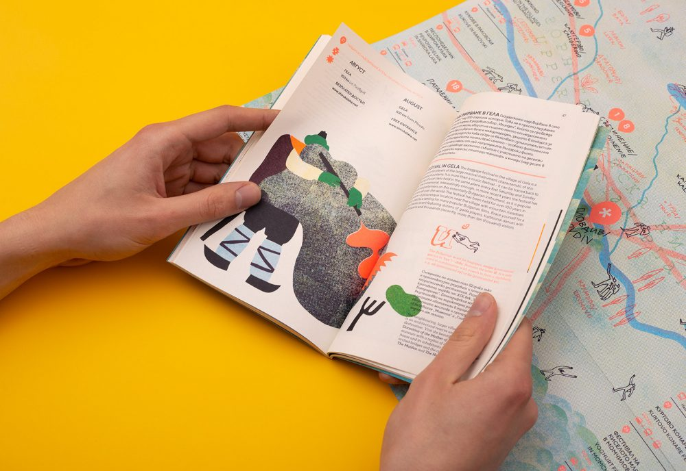 Regionale Culture Guide by Punkt Inspired by Soviet Era Illustrations