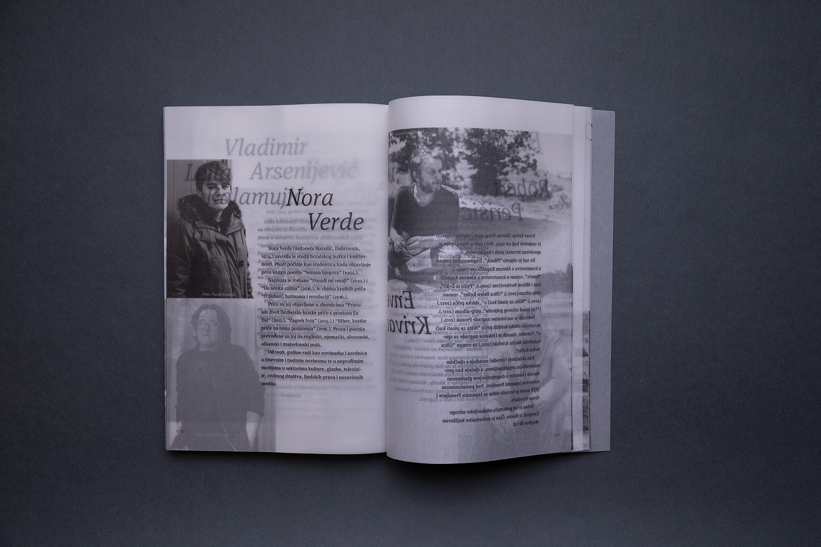 Authors' Boras: a Collection of Short Stories Printed on Transparent Glama Basic