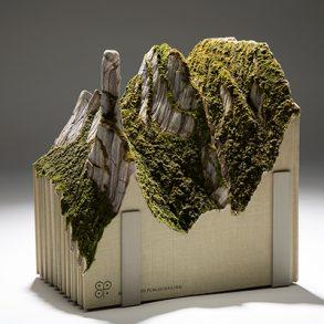 Guy Laramée Turns Discarded Titles Into Majestic Landscapes