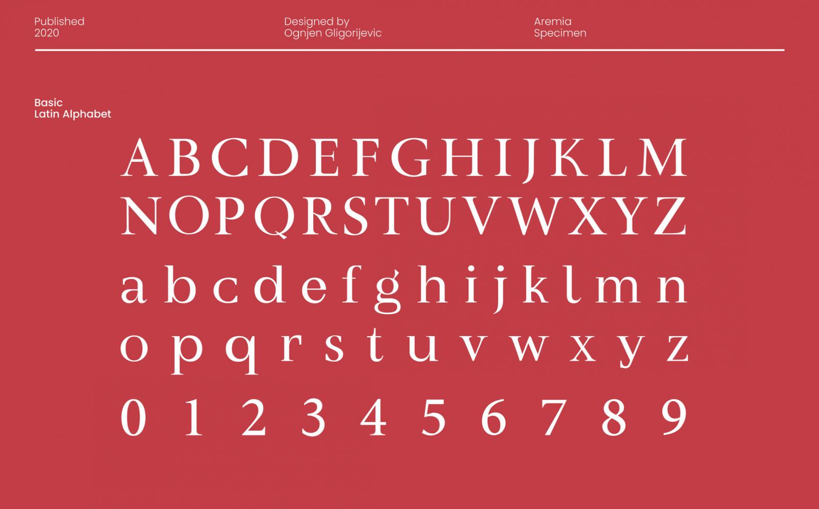 Aremia Typeface Integrates Contemporary Aesthetics to Classic Form