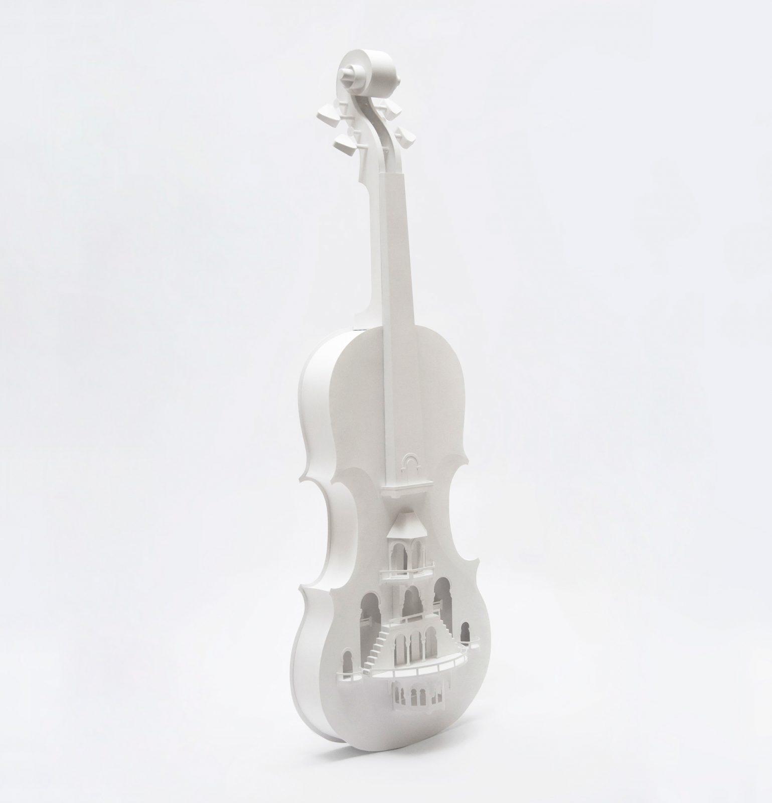 Violin City Paper Sculpture by Pratìc Studio