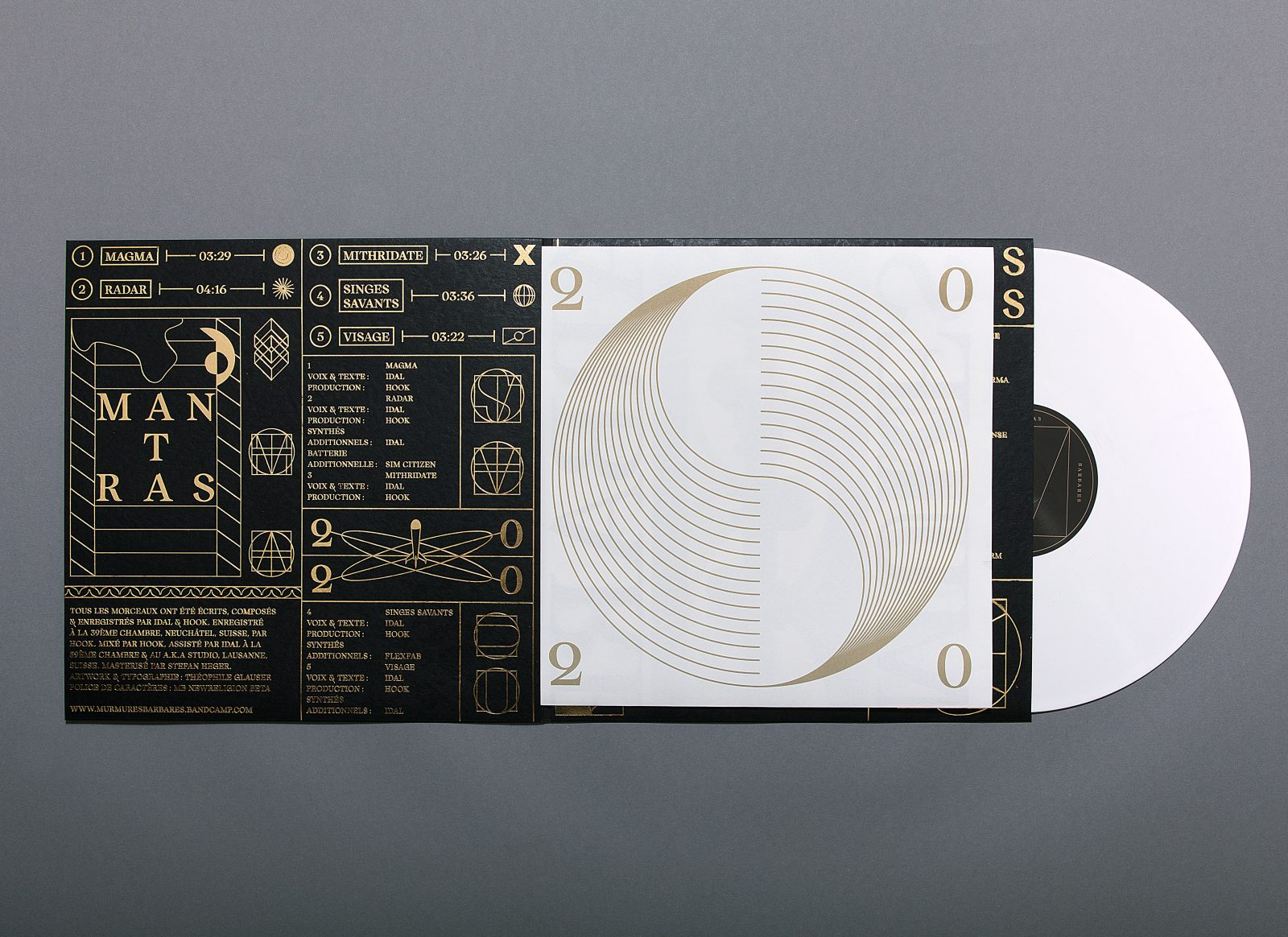 Mantras Album Package Design Inspired by Duality & Modern Religion