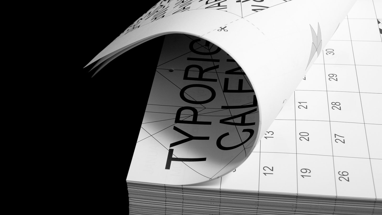 Typorigami Calendar 2021 invites the user to play, with each month including a new origami to try