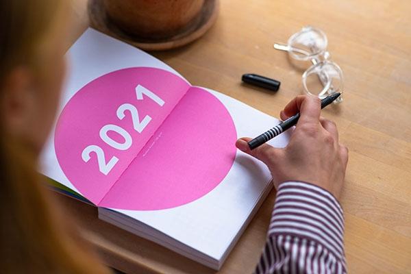 The multi-color Munken Agenda 2021 raises awareness of mental health and self-care, printed on beautiful Munken paper range