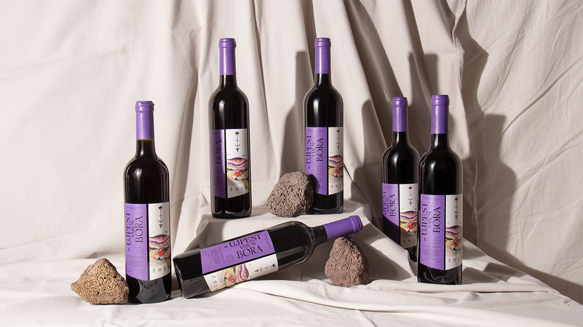 Újpest District Wine Identity by Faway Design With Contemporary Character