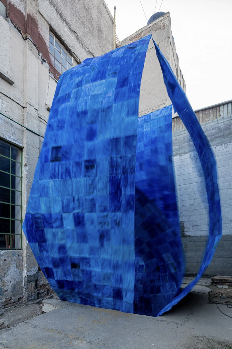 Architecture Firm PALMA's Blue Paper Installation is Made of 1.200 Recycled Papers