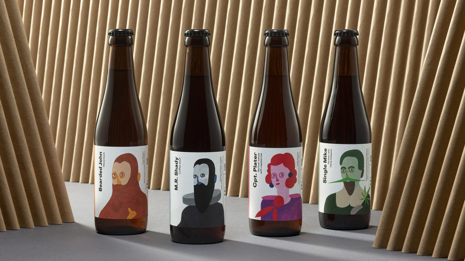 Hand-Painted Labels for Vasaknai Craft Beer by FOLK Design Agency