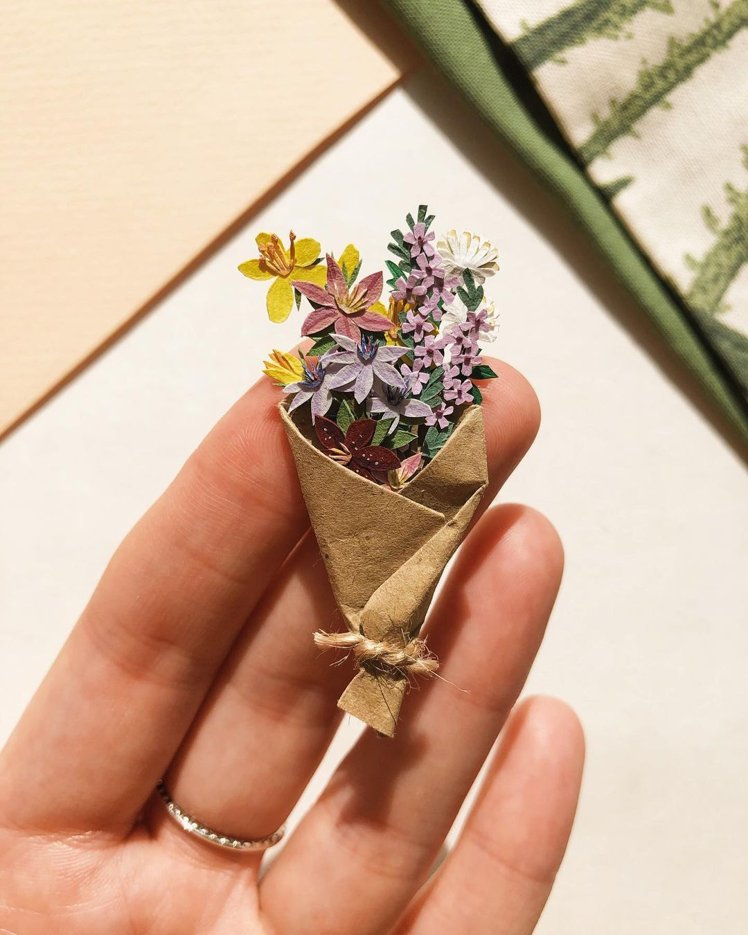 Tania Lissova's Endearing Tiny Paper Plants Will Stay In Bloom Forever