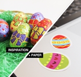 Inspiration + Paper = Yupo Tako Easter Stickers